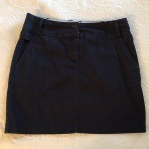 Lands End Twill Navy skirt